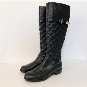 STUART WEITZMAN Quilted Copilot Leather Boots 6.5